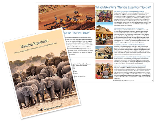 Namibia expedition brochure