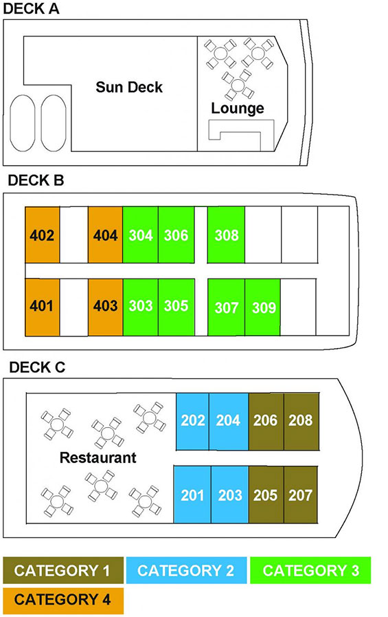 Coral expeditions ii deckplan