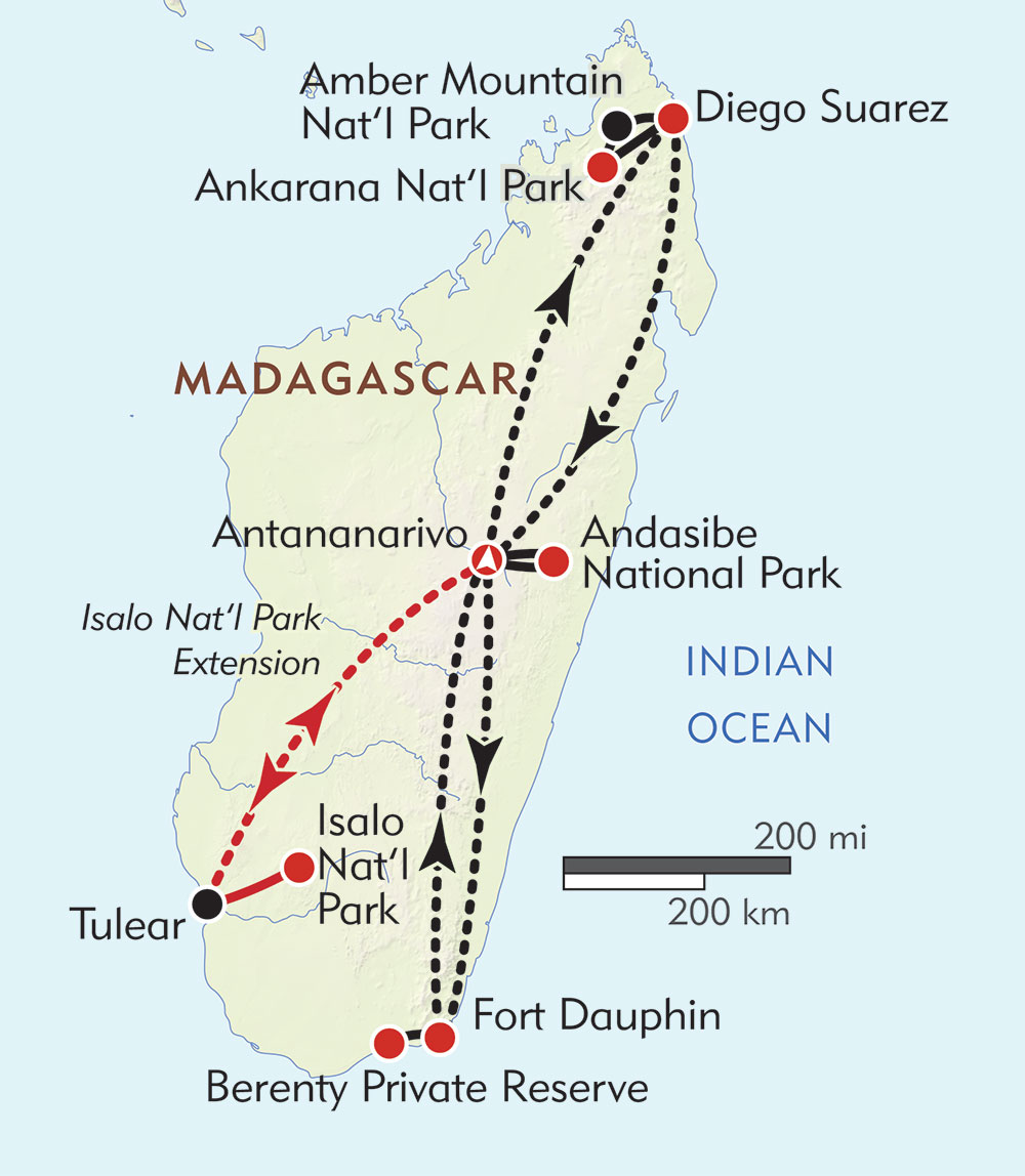 Magical Madagascar route-map