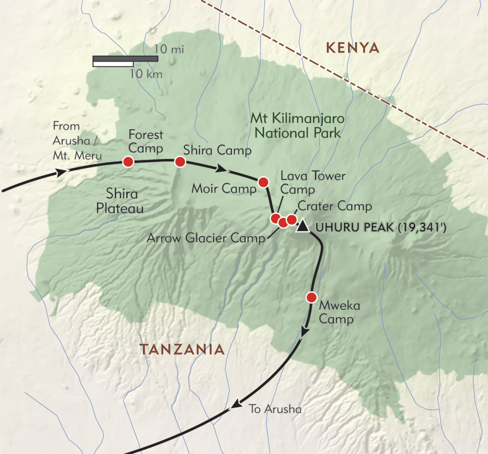 Mt Kilimanjaro On World Map.Climb Kilimanjaro Wilderness Travel