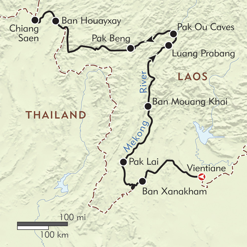 The Laos Mekong route-map
