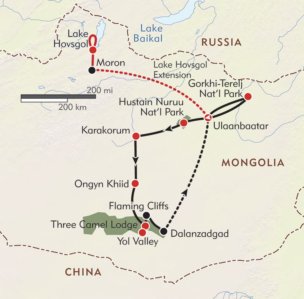 In the Realm of Genghis Khan route-map
