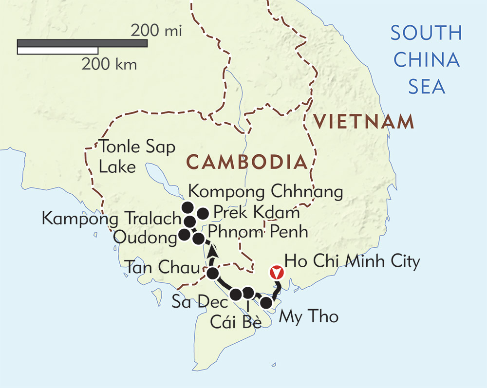 Charms of the Mekong route-map
