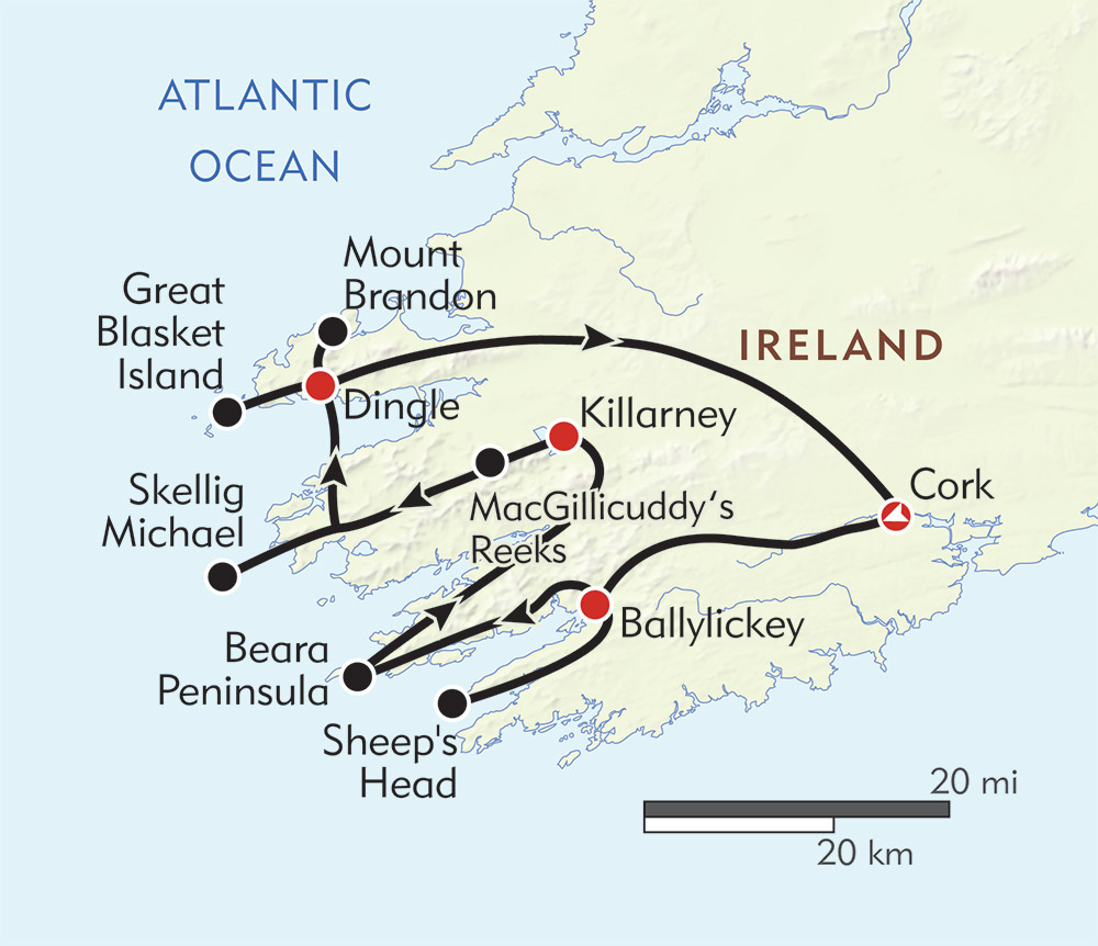 Spirit of Ireland route-map