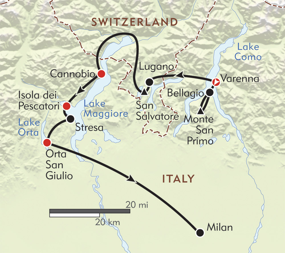 Italy\'s Lake District - Itinerary & Map - Wilderness Travel