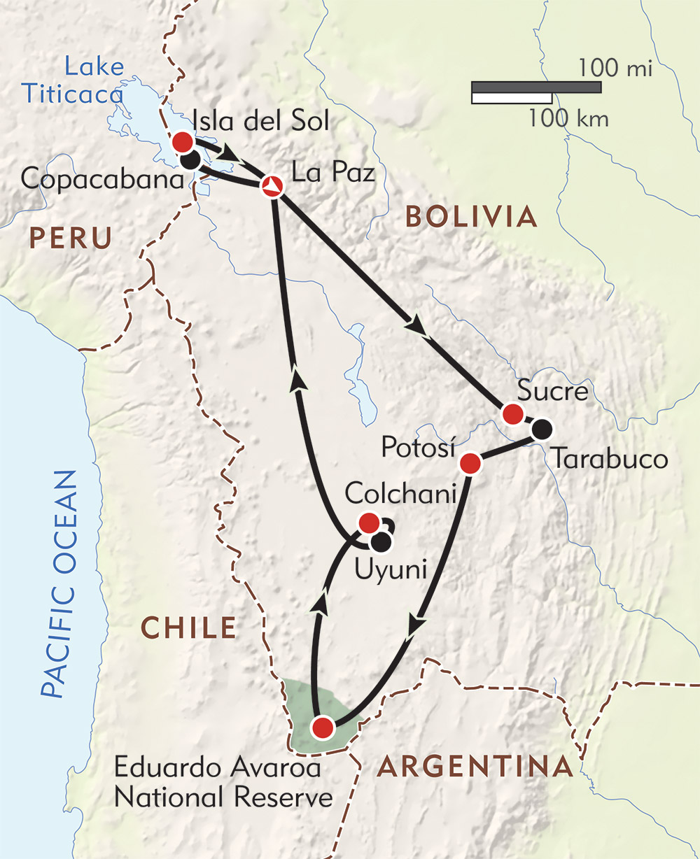 Bolivia! route-map