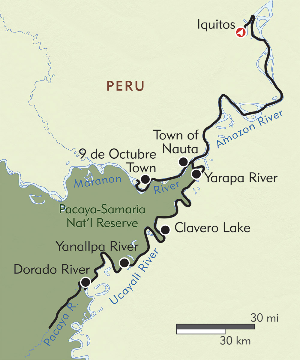 Amazon River Expedition route-map