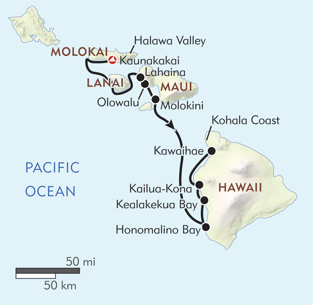 Hawaiian Seascapes route-map