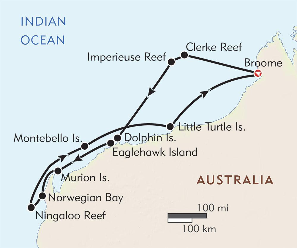 Australia Underwater Map.Underwater Wonders Of Western Australia Wilderness Travel