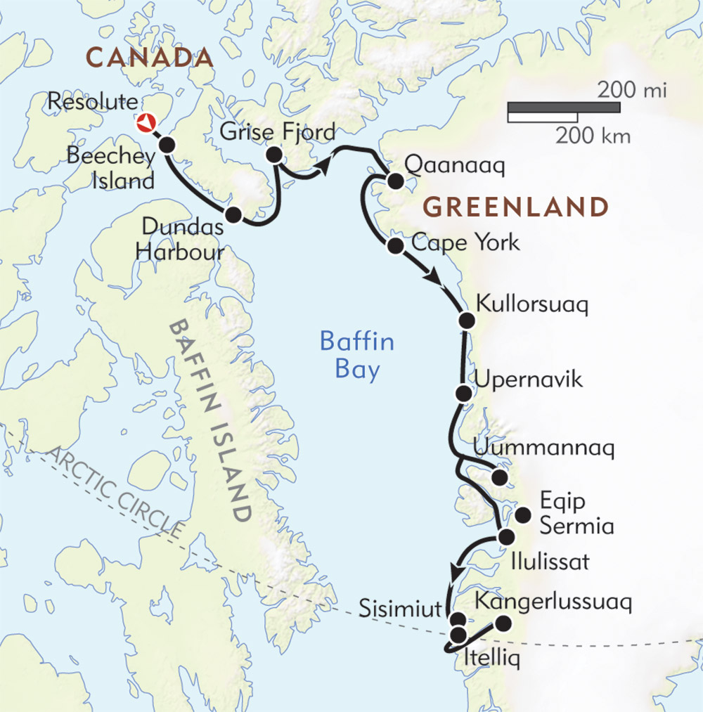 Northwest Passage route-map