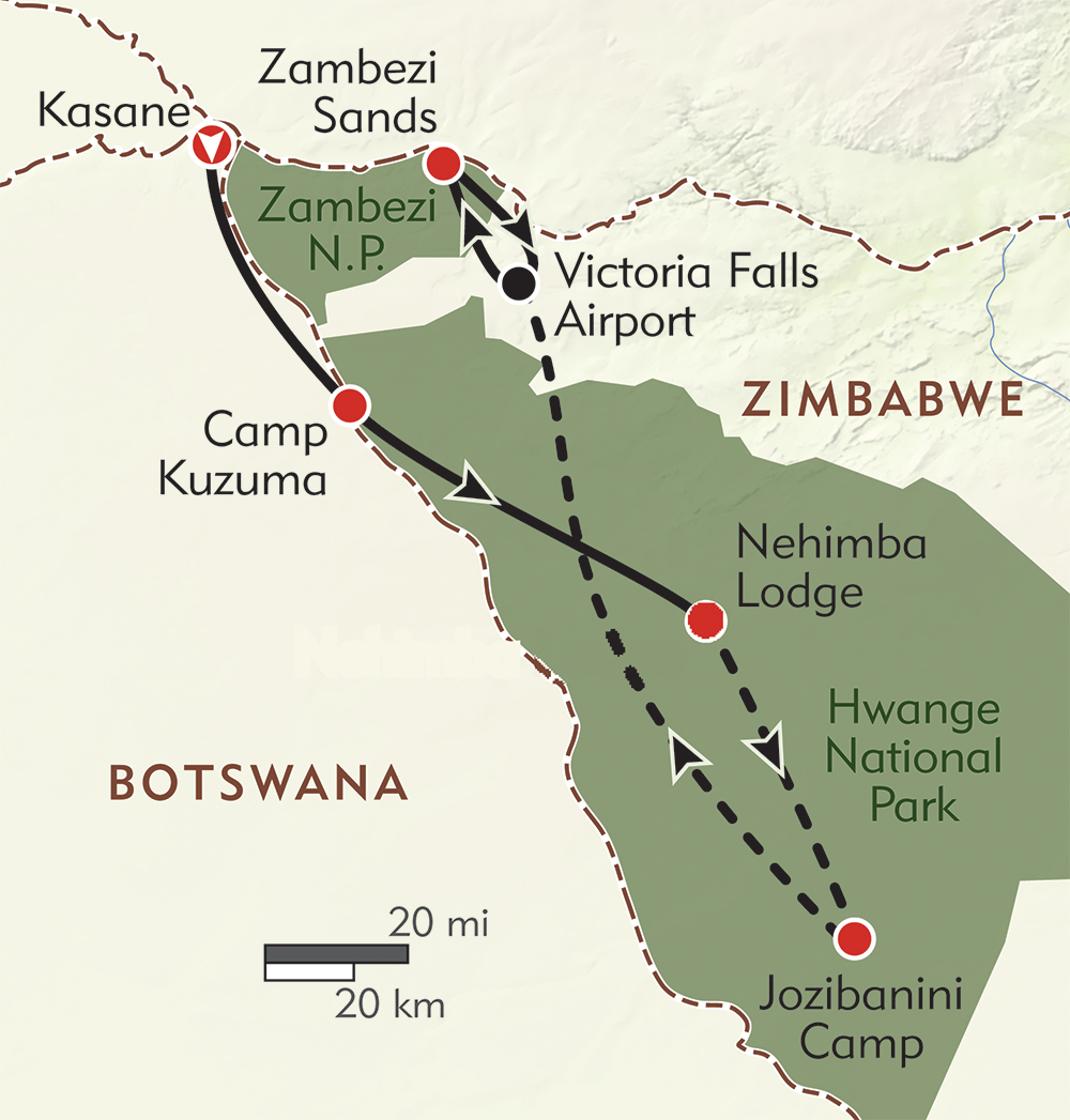 The Great Elephant Migration route-map