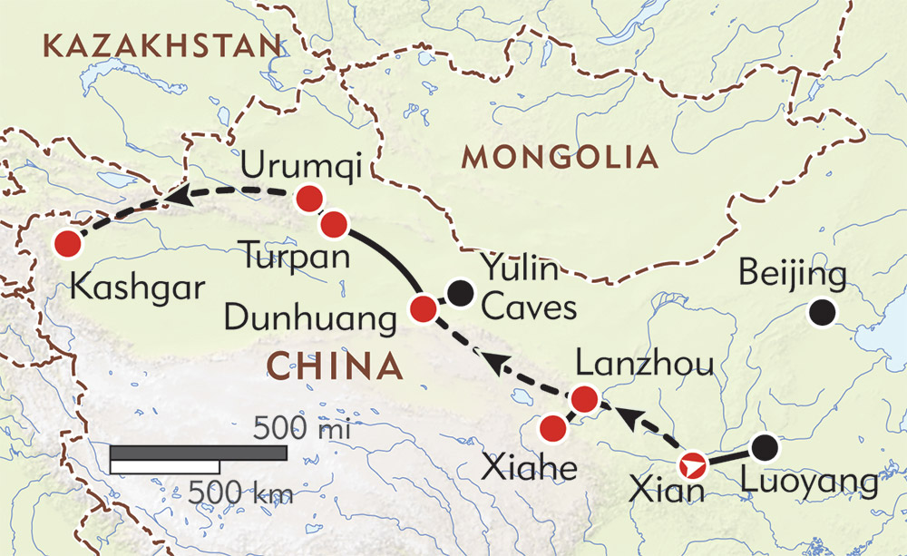 The Silk Road route-map