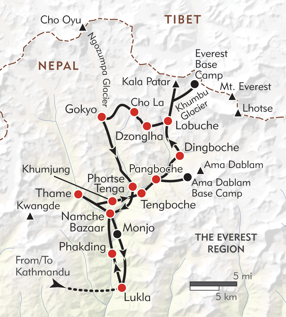 Ultimate Everest route-map