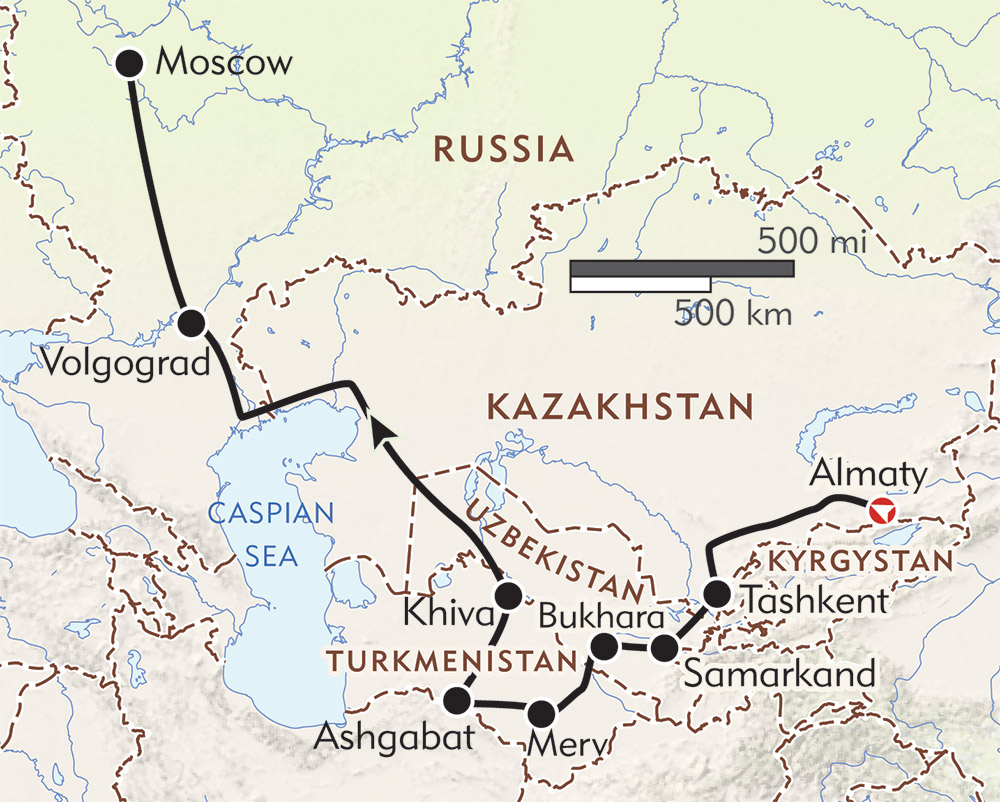 A Taste of the Silk Road route-map