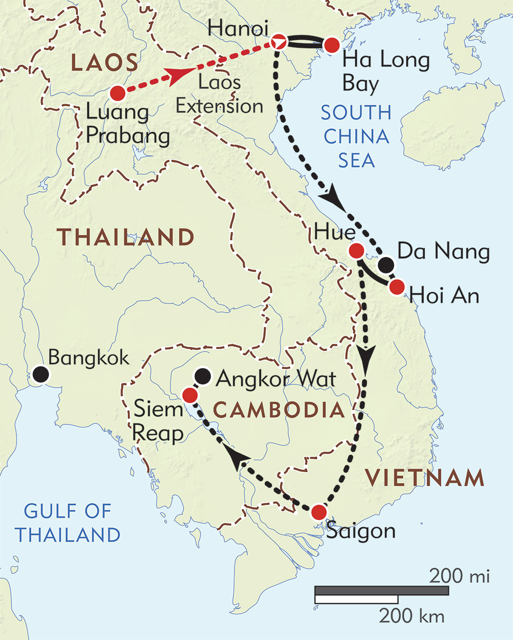 Map Of Vietnam And Cambodia Vietnam and Cambodia Private Journey | Wilderness Travel