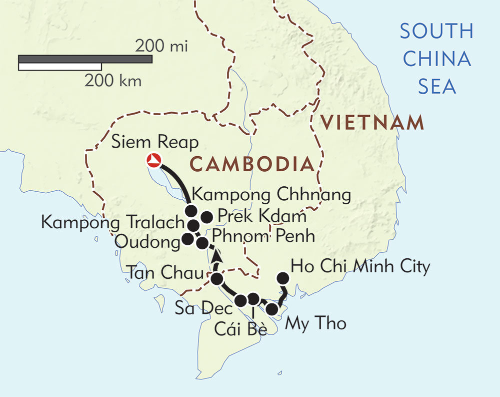 Riches of the Mekong route-map
