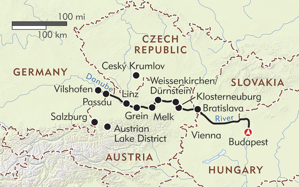 Magna on the Danube route-map