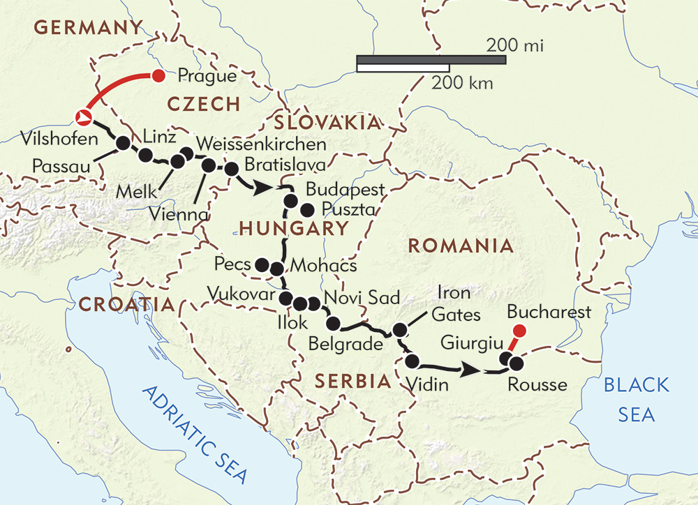 Grand Danube route-map
