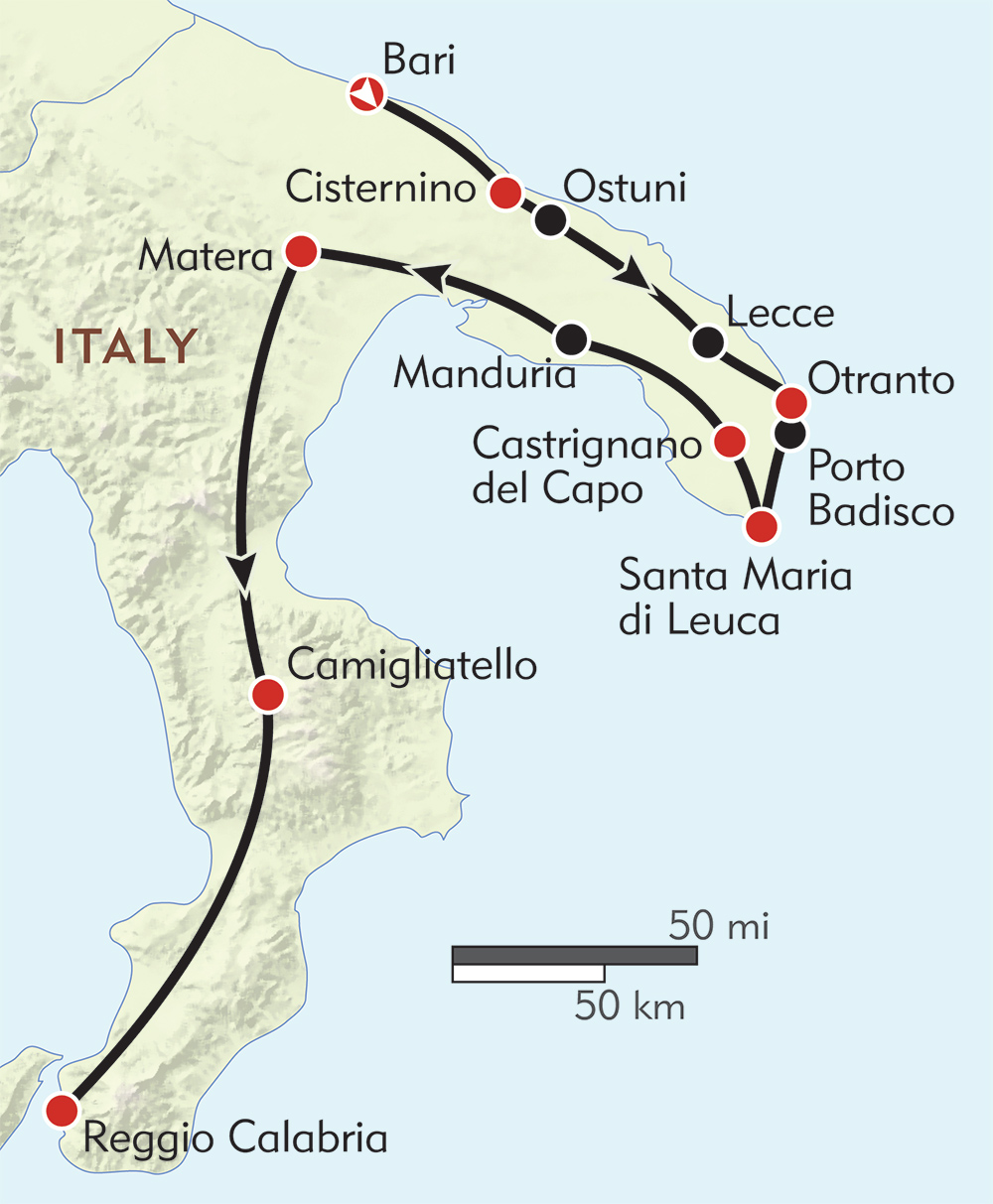 Hiking Puglia and Calabria | Wilderness Travel on sicily italy map, cinque terre italy map, cambria italy map, campobasso italy map, cumae italy map, aosta valley italy map, azzurro italy map, sacco italy map, acireale italy map, formia italy map, baiae italy map, sardinia map, vatican city italy map, milan italy map, abruzzo italy map, salerno italy map, palermo map, potenza italy map, basilica italy map, regions of italy, naples italy map,
