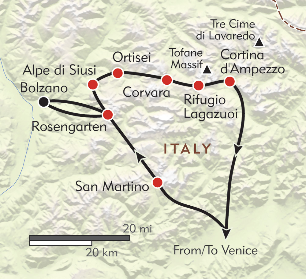 Ultimate Dolomites route-map