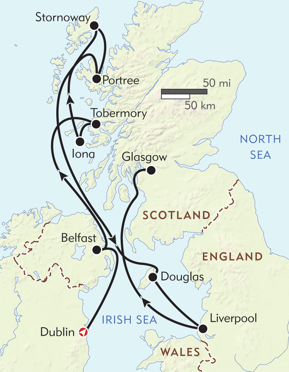 Secrets of Scotland route-map