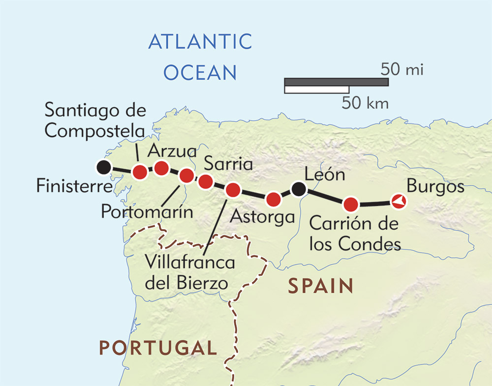 Pilgrim's Way route-map