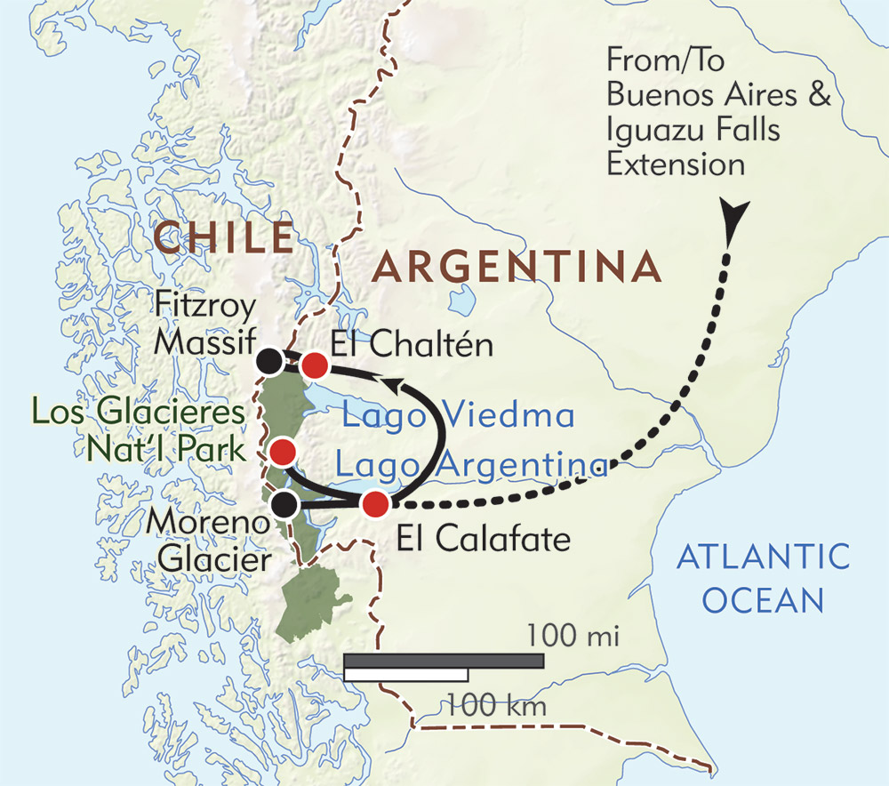 Argentina Private Journey route-map