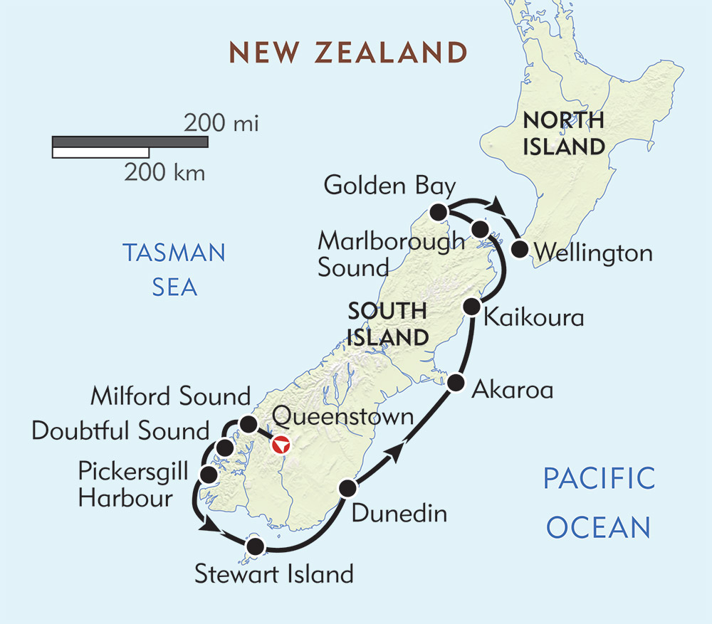 Where Is Wellington New Zealand On The Map.New Zealand Milford Sound To Wellington Wilderness Travel