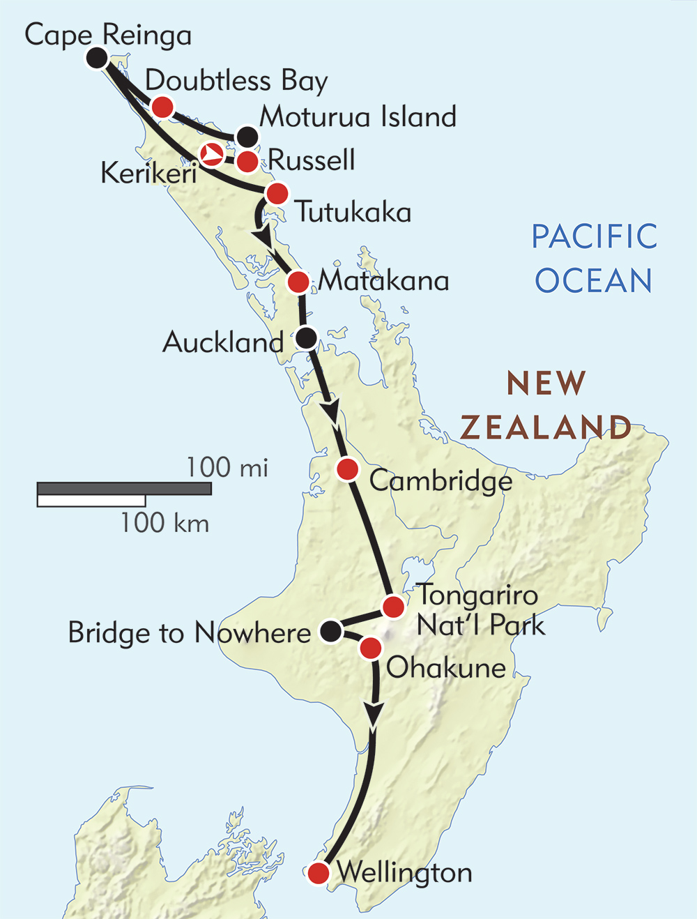 Where Is Wellington New Zealand On The Map.New Zealand Hiking Tour North Island Te Araroa Wilderness Travel