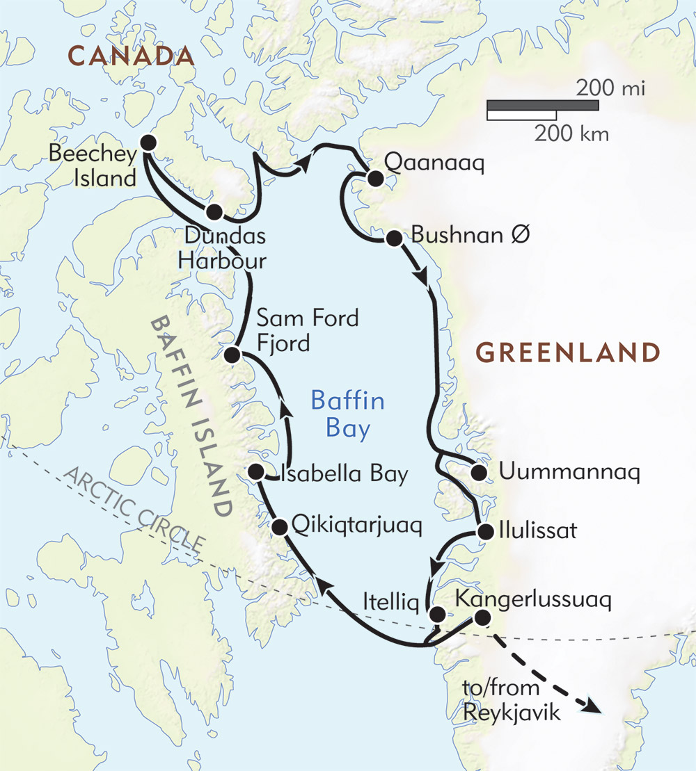 Best of the Western Arctic: Canada and Greenland route-map