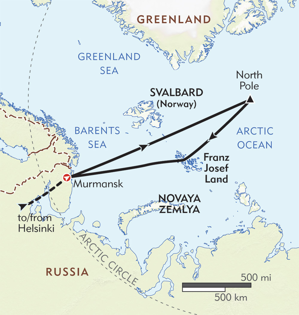 North Pole route-map