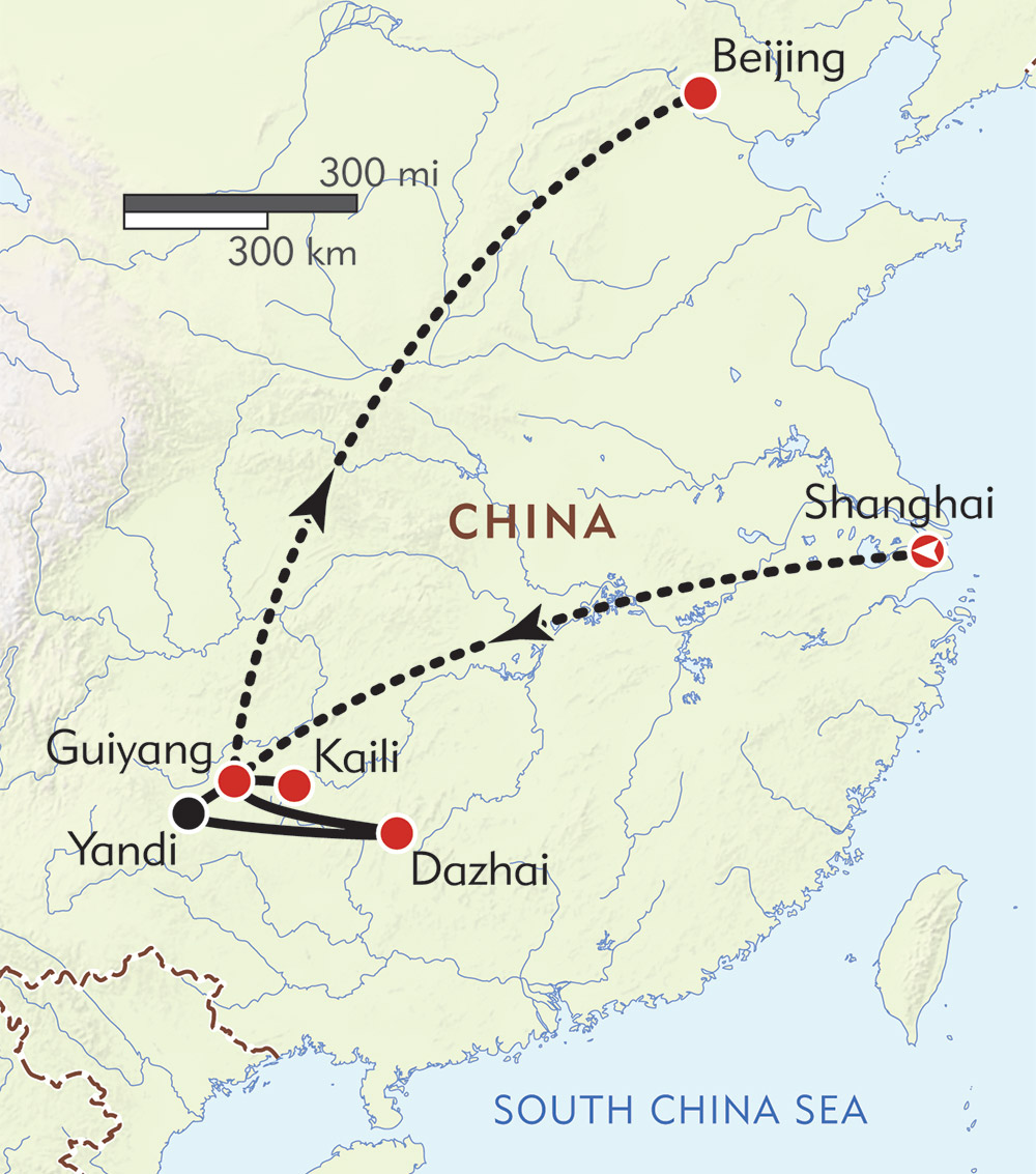 China Private Journey route-map