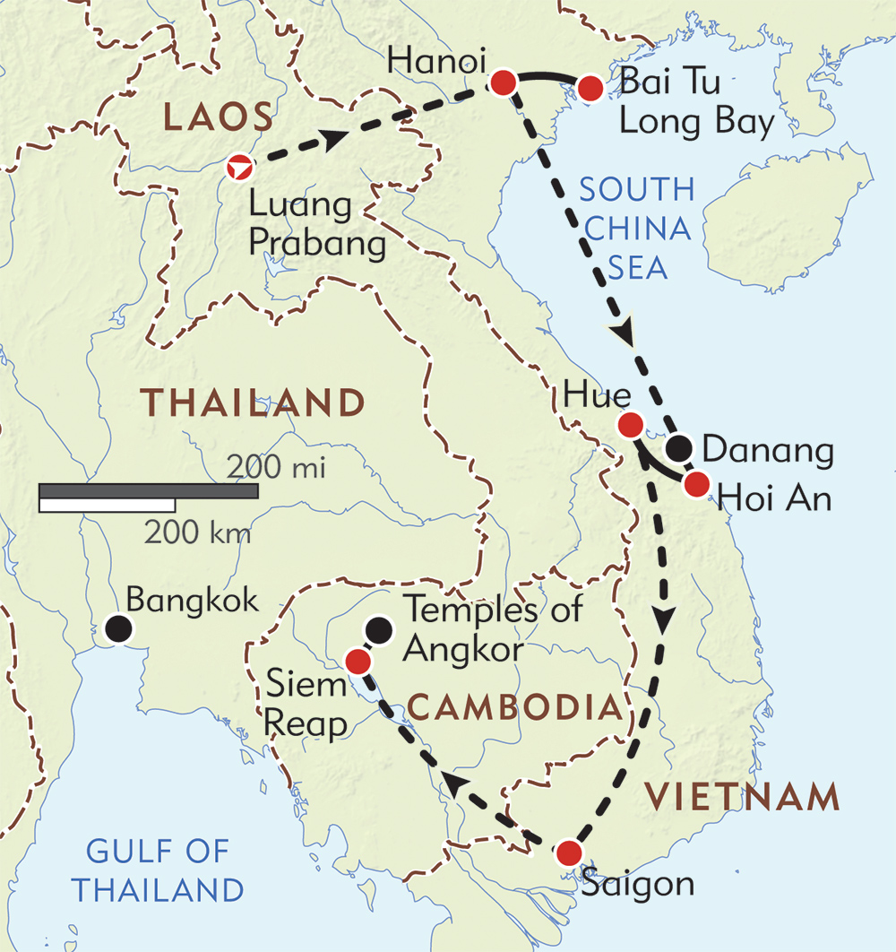 Indochine route-map