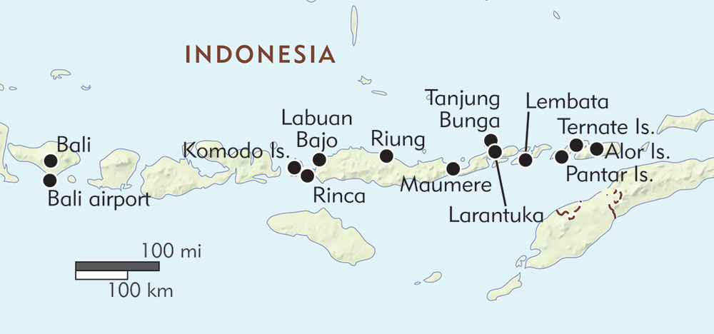 Komodo Dragons and Coral Reefs of the Alor Archipelago route-map