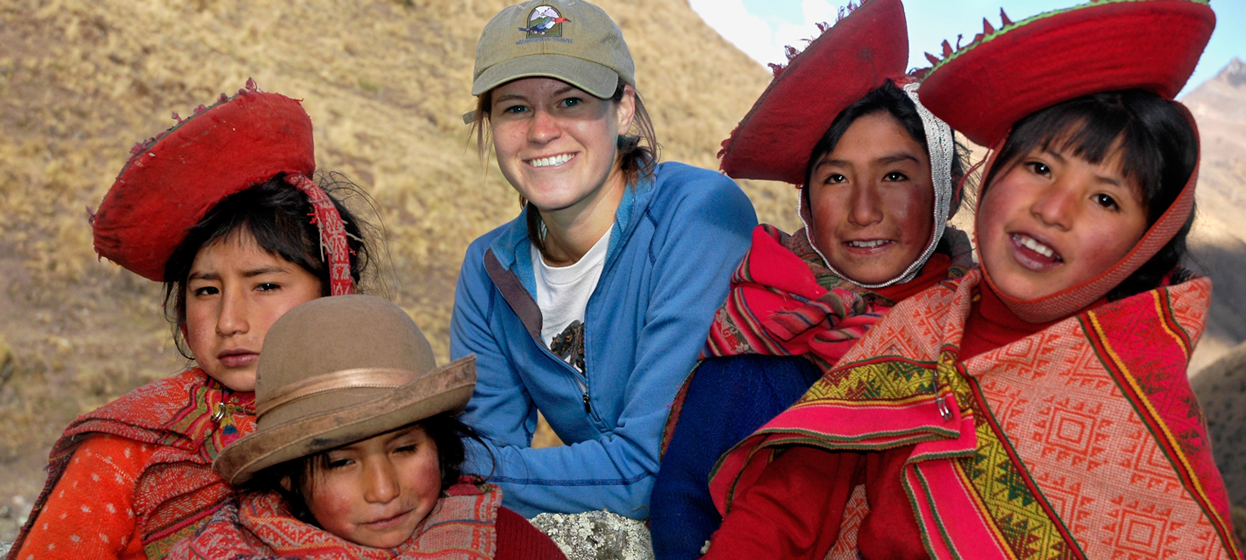 Making new friends in Peru