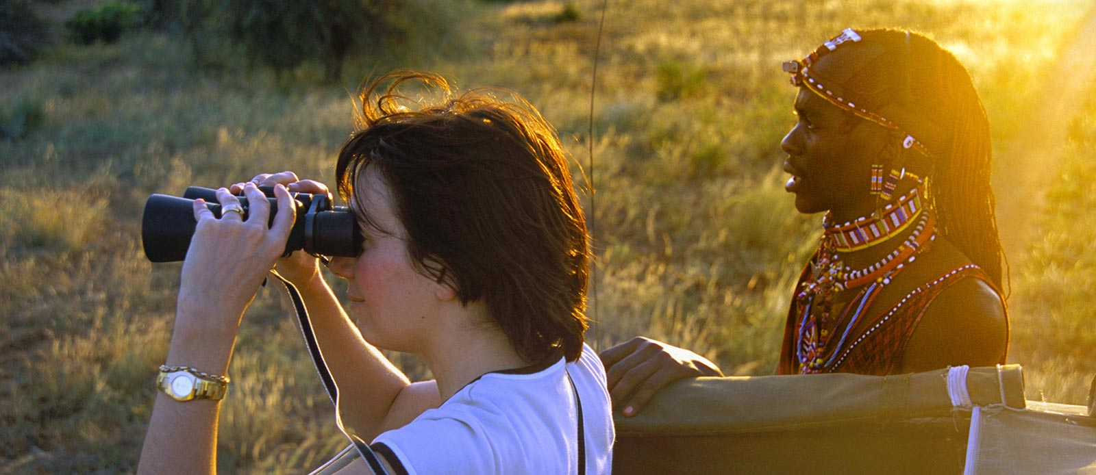 Observing wildlife in East Africa in the company of the Masai