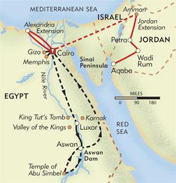 In the Wake of Cleopatra route-map