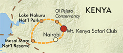 Perspectives on East Africa: Kenya Photo Safari and Symposium route-map