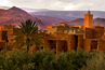 The adobe buildings of Ait Ben Haddou, a restored casbah in Morocco