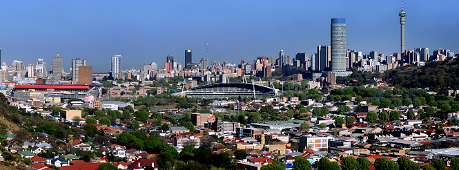johannesburg city skyline south africa