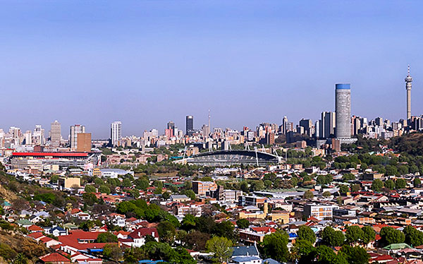 south africa johannesburg city skyline