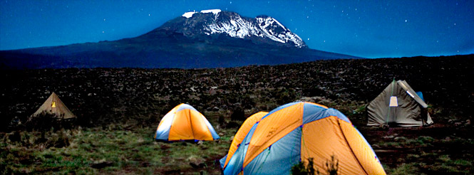Campsite below Kilimanjaro summit