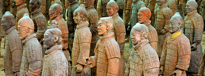 terra cotta warriors xian china