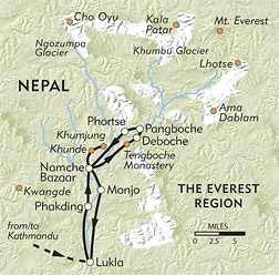 Everest Adventure route-map