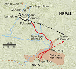 Annapurna Lodge Trek Private Journey route-map