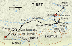 Magical Tibet route-map