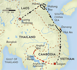 Indochine Culinary Expedition route-map