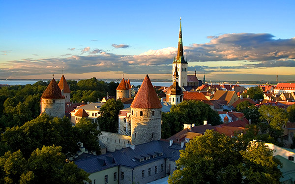 tallinn estonia city view castle