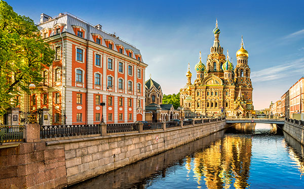 russia st petersburg cathedral of our savior on spilled blood canal