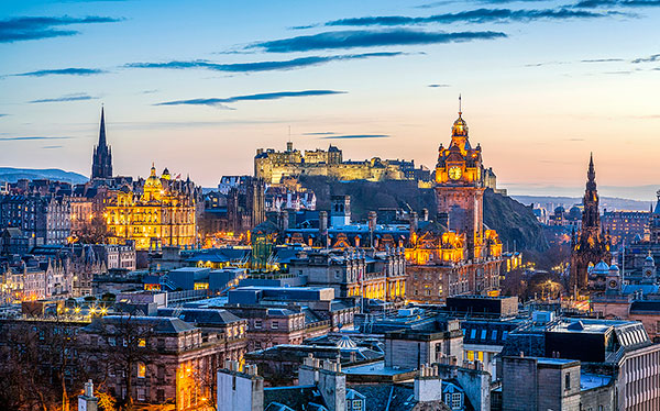 scotland edinburgh city lights